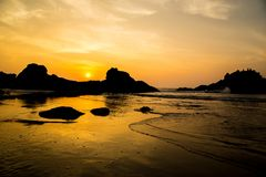 Travel in India. Beautiful scene in Goa, India Royalty Free Stock Photos