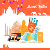 Travel India Conceptual Poster Royalty Free Stock Photo