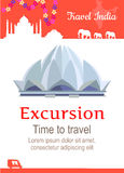 Travel India Conceptual Poster Royalty Free Stock Photography