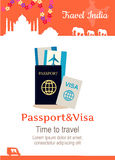 Travel India Conceptual Poster Stock Photo