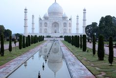 Travel India. A view on taj mahal mausoleum in agra, india Royalty Free Stock Images
