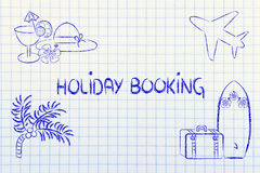 Travel industry: holiday planning and booking vector illustration