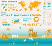 Travel info graphics elements Stock Photo