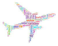 Travel info-text graphics. And arrangement concept (word cloud Royalty Free Stock Photography