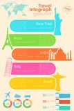 Travel Infographic Chart Royalty Free Stock Images