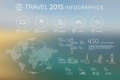 Travel infographic Stock Image
