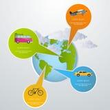 Travel infographic Stock Image