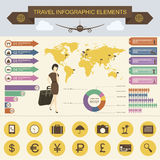 Travel Infographic Elements. Travel And Tourism Infographics With Data Icons, Elements Royalty Free Stock Images