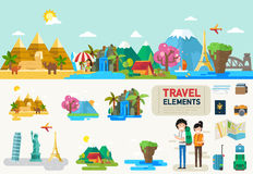 Travel infographic elements Royalty Free Stock Photography
