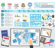 Travel infographic Stock Photography