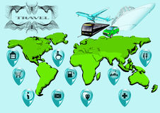 Travel infographic Royalty Free Stock Image
