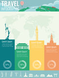 Travel infographic. Infographics for business, web sites, presentations, advertising. Travel and Tourism concept. Vector Royalty Free Stock Image