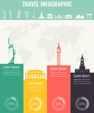 Travel infographic. Infographics for business, web sites, presentations, advertising. Travel and Tourism concept. Vector Stock Images