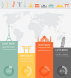 Travel infographic. Infographics for business, web sites, presentations, advertising. Travel and Tourism concept. Vector Royalty Free Stock Photo