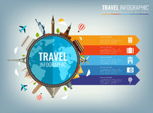 Travel infographic. Infographics for business, web sites, presentations, advertising. Travel and Tourism concept. Vector Royalty Free Stock Photos