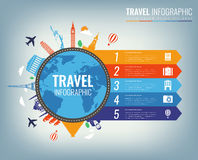 Travel infographic. Infographics for business, web sites, presentations, advertising. Travel and Tourism concept. Vector Stock Photography