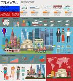 Travel infographic.Moscow infographic tourist sights of China; welcome to Moscow. Russia infographic. Travel to Moscow presentatio vector illustration