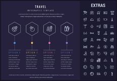 Travel infographic template, elements and icons. Travel options infographic template, elements and icons. Infograph includes line icon set with tourist Royalty Free Stock Images