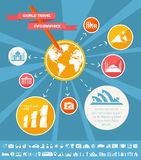 Travel Infographic Template. Royalty Free Stock Photos