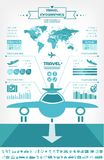 Travel Infographic Template. royalty free illustration