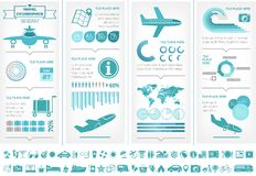 Travel Infographic Template. Stock Images