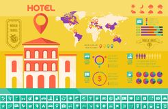 Travel Infographic Template. Royalty Free Stock Photo