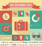 Travel Infographic Template. Royalty Free Stock Images
