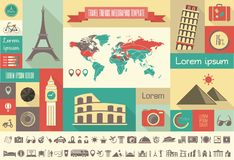 Travel Infographic Template. Royalty Free Stock Photography