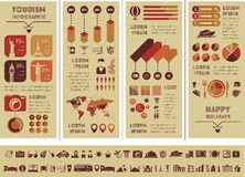 Travel Infographic Template. Royalty Free Stock Image
