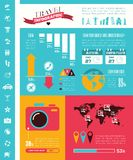 Travel Infographic Template. Stock Image