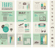 Travel Infographic Template. Stock Photography