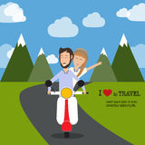 Travel infographics.Hipster Tourist Royalty Free Stock Photography