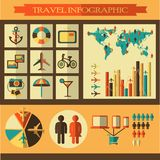Travel infographics with icons Royalty Free Stock Photography