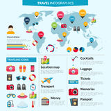 Travel Infographics Set Stock Photo