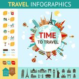 Travel Infographics Set Royalty Free Stock Images