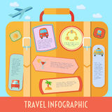 Travel Infographics Set Royalty Free Stock Photos
