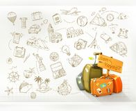 Travel infographics, vector Royalty Free Stock Photos