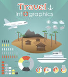 Travel infographics Royalty Free Stock Images