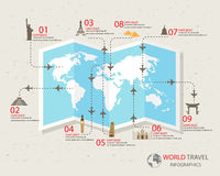 Travel infographics vector illustration