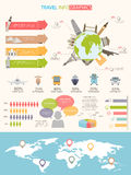 Travel infographics Royalty Free Stock Photo