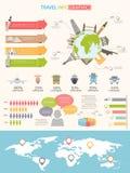 Travel infographics Royalty Free Stock Photo