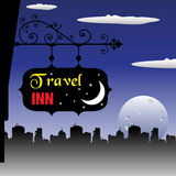 Travel inn plate Royalty Free Stock Images
