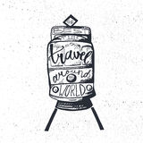 Travel inspirational lettering Stock Photo