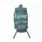 Travel inspirational lettering Royalty Free Stock Image