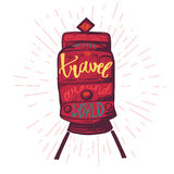 Travel inspirational lettering Stock Photography