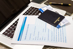 Travel insurance claim form Royalty Free Stock Photo
