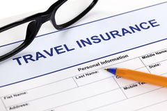 Travel insurance form Stock Photos