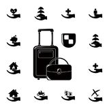 Travel insurance icon. Detailed set of insurance icons. Premium quality graphic design sign. One of the collection icons for websi. Tes, web design, mobile app Royalty Free Stock Photos