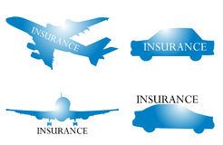 Travel insurance logo graphic in vector Stock Image
