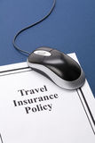 Travel Insurance Policy. Document of Travel Insurance Policy for background Royalty Free Stock Photo